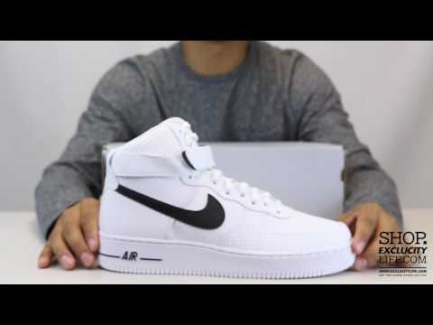 Nike Air Force 1 High White Black Unboxing Video at