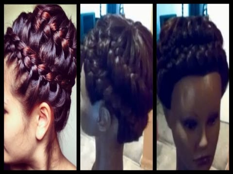 Universal Sew In Weave Never Ending Braid Updo Prom