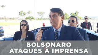 "Bolsonaro ofende jornalista: ""queria dar o furo contra mim"""