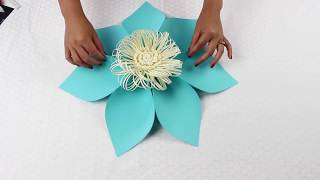 Paper Flower Tutorial Using Template #5