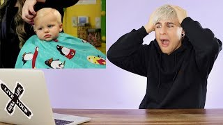 HAIRDRESSER REACTS TO KIDS GETTING HAIRCUTS (cuteness overload!) |bradmondo
