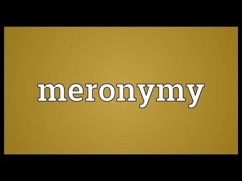 Meronymy Meaning
