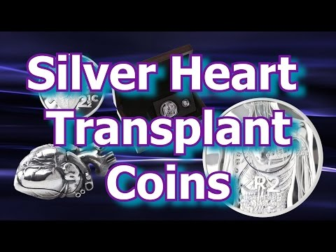 South African Mint Silver Heart Transplant Set
