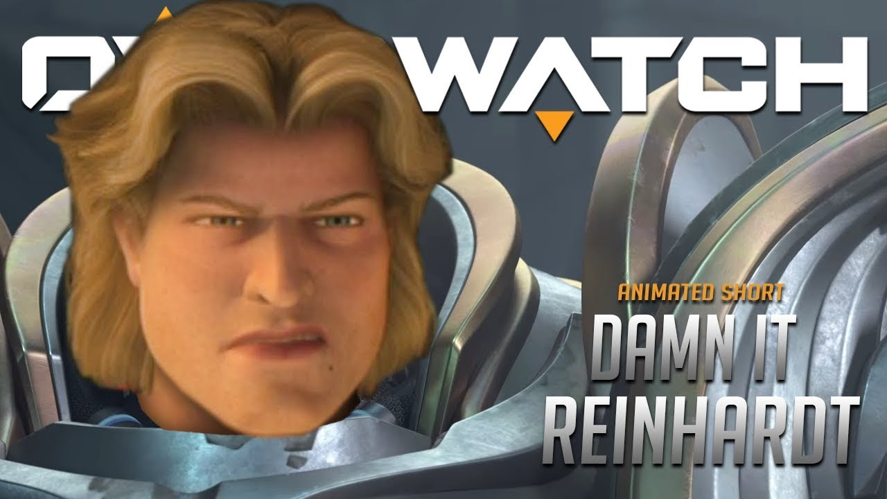 Overwatch Cutscene Damn It Reinhardt Youtube
