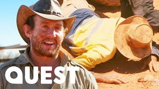 Eric Takes A Massive Fall In The Rush To Set Up His New Plant | Aussie Gold Hunters