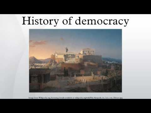 History of democracy