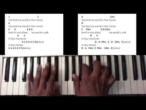 You Hold My World - Israel Houghton (Piano Tutorial)