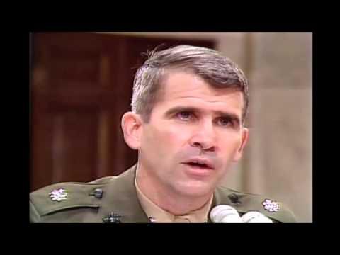 Oliver North, Osama bin Laden Hoax, Iran Contra Hearings, 7/8/1987