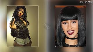 Nicki Minaj and  Cardi B 2019 pictures growing up side by side