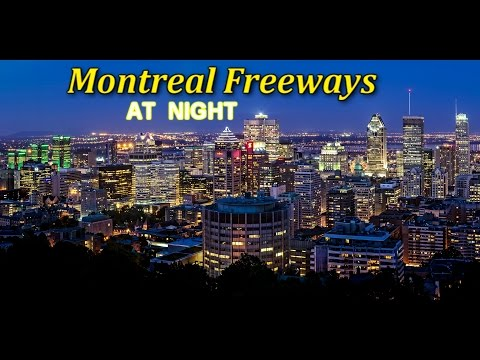 Montreal Highway System at Night, Quebec