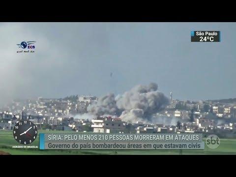 Mais de 200 pessoas morreram em bombardeios do governo Sírio | SBT Brasil (20/02/18)