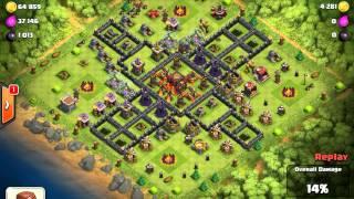 Clash of clans - My first air raid!