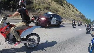 Cop tries to stop group of bikers.. Then this happens.... thumbnail