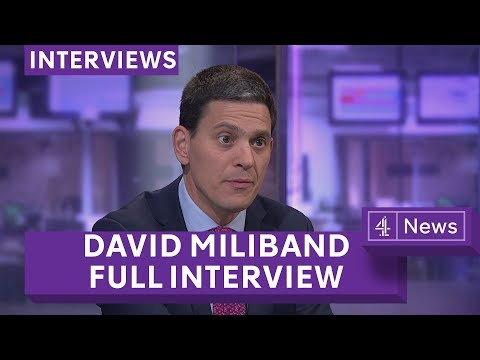 David Miliband on refugees, Brexit and his family in World War Two (extended interview)