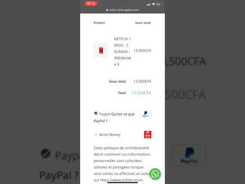 Acheter en ligne au Gabon(AFRIQUE)via Airtel Money&Mobicah sur Online Store Gabon(NETFLIX,ITUNES...)