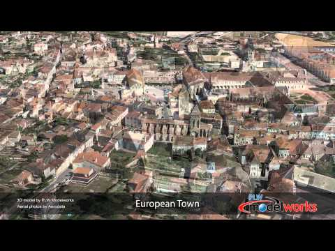 Cluny, France 3D Urban Model created by PLW Modelworks