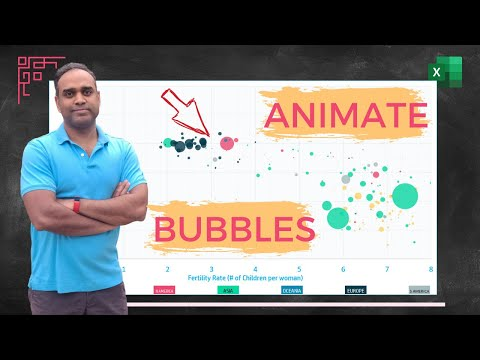 Create Motion Bubble Charts & Scatter Plots in Excel
