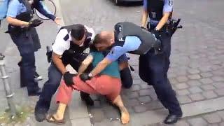 Polizeigewalt Deutschland - Brutaler Polizeiübergriff, 5 Juli 2014, Berlin Kreuzberg
