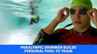 Argentinian paralympic swimmer builds personal pool to train