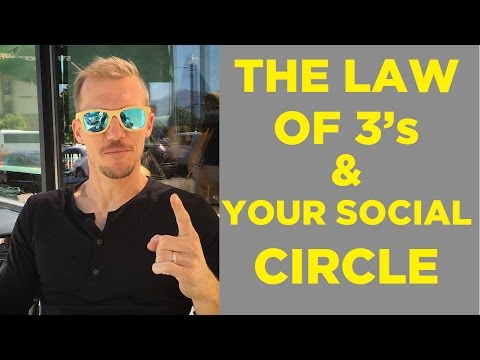 How To Create A Strong Social Circle - The Law of 3's