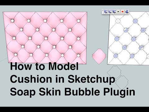 How to Model a Tufted (upholstery) Cushion in Sketchup using