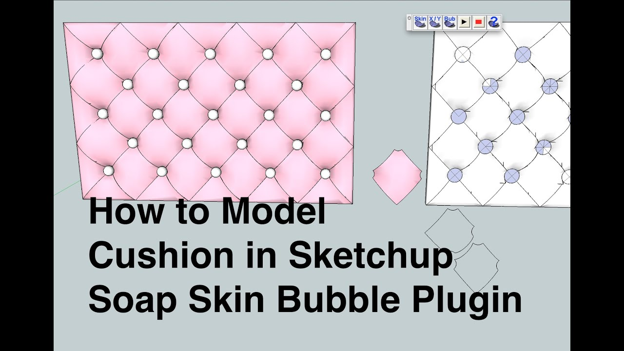 How To Model A Tufted Upholstery Cushion In Sketchup