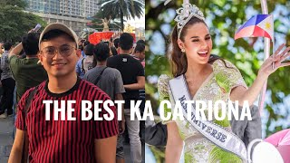 My 'Miss Universe 2018 Catriona Gray homecoming parade' experience in Ayala, Makati