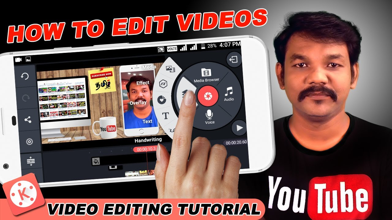 How To Edit Videos On Android Kinemaster Tutorials In Tamil