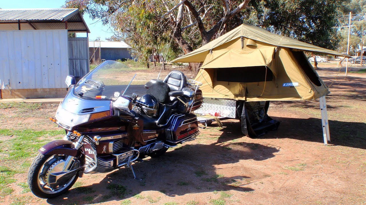 & GOLDWING MOTORCYCLE CAMPER TRAILER - YouTube