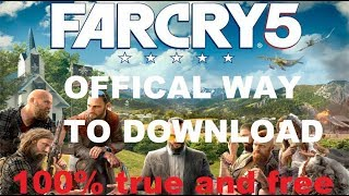 [OFFICAL] Download FAR CRY 5 PC || Must Watch