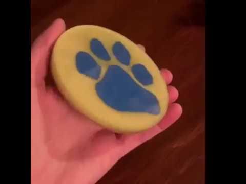 Epoxy Coasters, Wood Paw Print inlay, using coaster mold