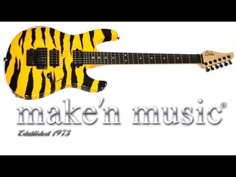 Hot n Fresh: Suhr Modern 80's Shred Antique in Tiger Stripe arrives at Make'n Music!