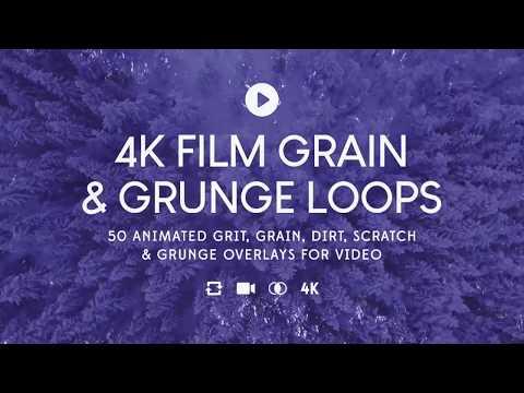 50 4K Film Grain & Grunge Overlay Loops