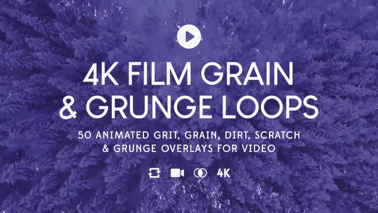 Animated Subtle Grunge Overlays — 4K Film Grain & Grunge Loops +