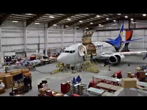 KF Aerospace - B737-300 Quick Change Combi Conversion Timelapse