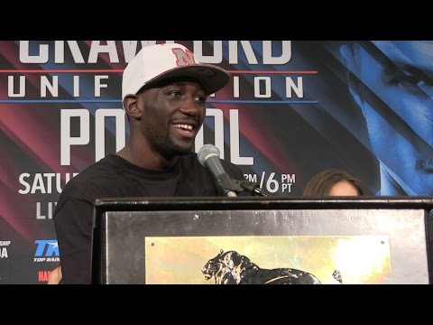 TERENCE CRAWFORD AFTER DOMINATE WIN VIKTOR POSTOL FULL PRESS CONFERENCE