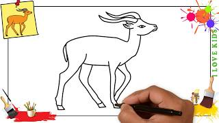 How to draw an antelope 2 EASY step by step