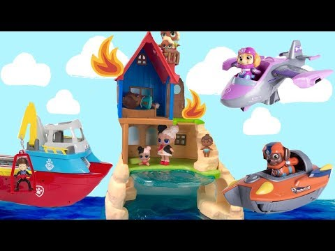 Learn Colors with Best Paw Sea Patrol Toy Learning Videos fo