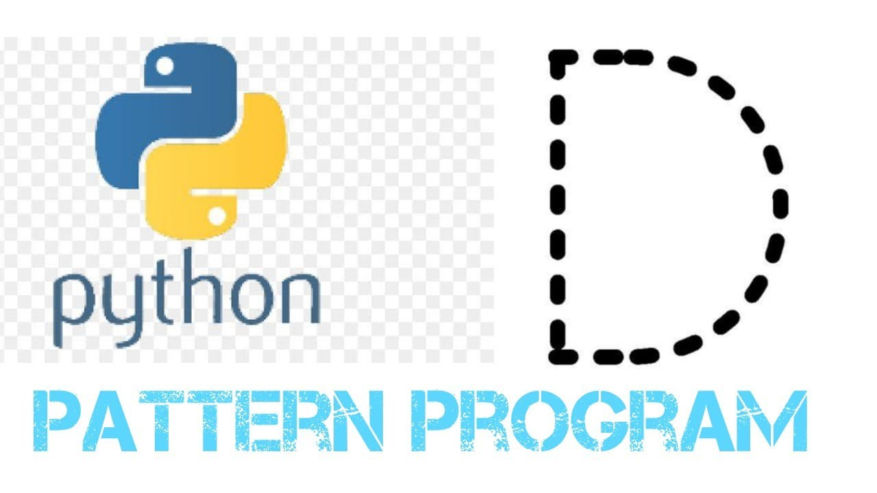 Python Pattern Programs - Printing Stars '*' in D Shape || Python Coding Questions