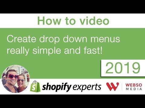 How To Create Drop Down Menu In Shopify 2019 VERSION (nested Menu, Sub Menu)