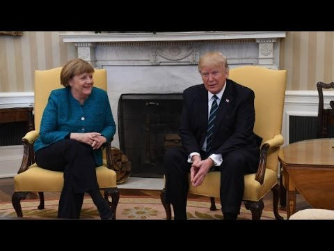 Thumbnail: Trump meets with Merkel
