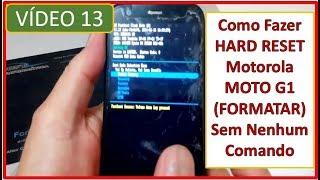 Como fazer Hard Reset no Moto G1  Sem Nenhum Comando (Formatar) #v13