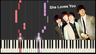 She Loves You - The Beatles - Piano Tutorial