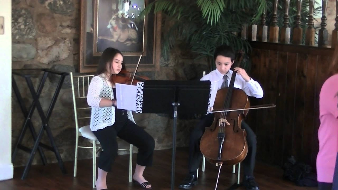 Violin-cello duets - 2014 05 05 GBYO gala dinner cocktail hour music