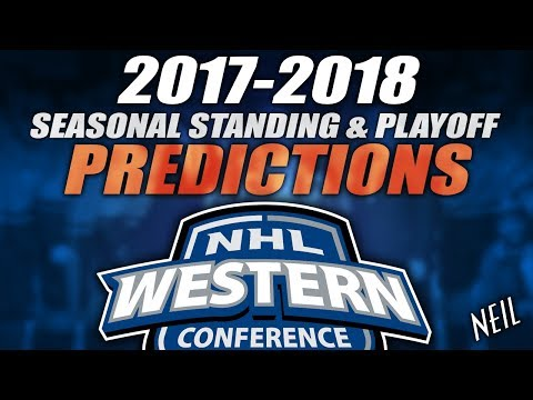 2017-18 NHL Western Conference Standing & Playoff Predictions