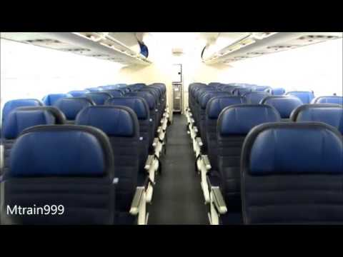 United A319 cabin tour