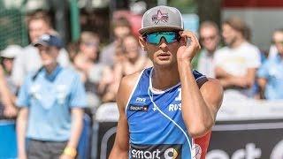 Krasilnikov- Semenov the best Russian beach volleyball players.Пляжный волейбол.