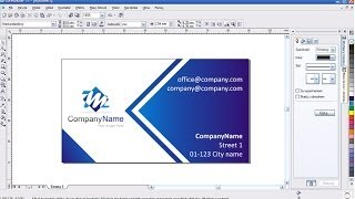 Company business card - Corel Draw