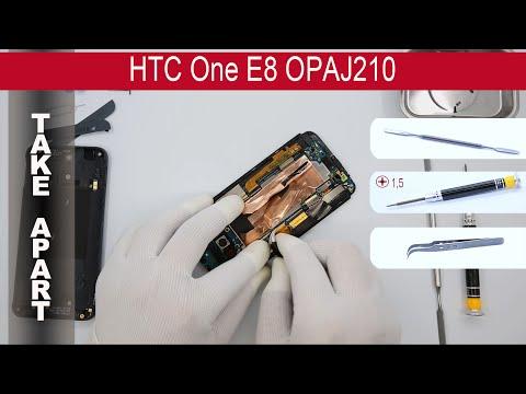 How to disassemble 📱 HTC One E8 OPAJ210, Take Apart, Tutorial