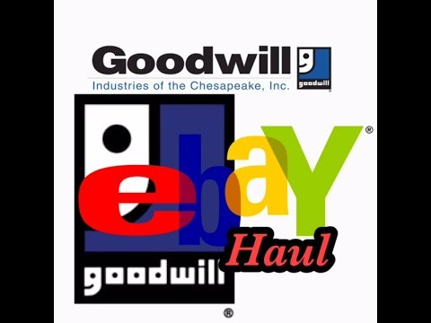 goodwill oulet haul ebay sourcing at the bins items to sell for profit youtube. Black Bedroom Furniture Sets. Home Design Ideas